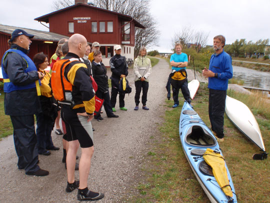 Nigel Foster Introduction on kayak training at KF Öresund club house Malmö