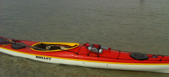 Example of kayak cockpit with wings for knee grip. Good choice in kayak for amongst other eskimo rolls or for edging kayak with better control