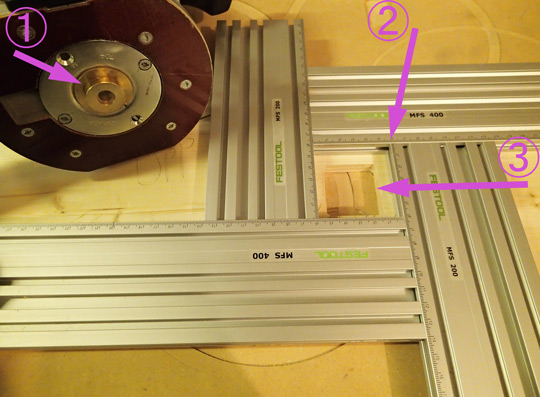 How an inlay router guide bush set works a festool router with a trend micro router template for inlay routing and an mfs greentooth Gallery